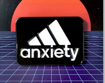 Anxiety Pin - Soft enamel lapel pin