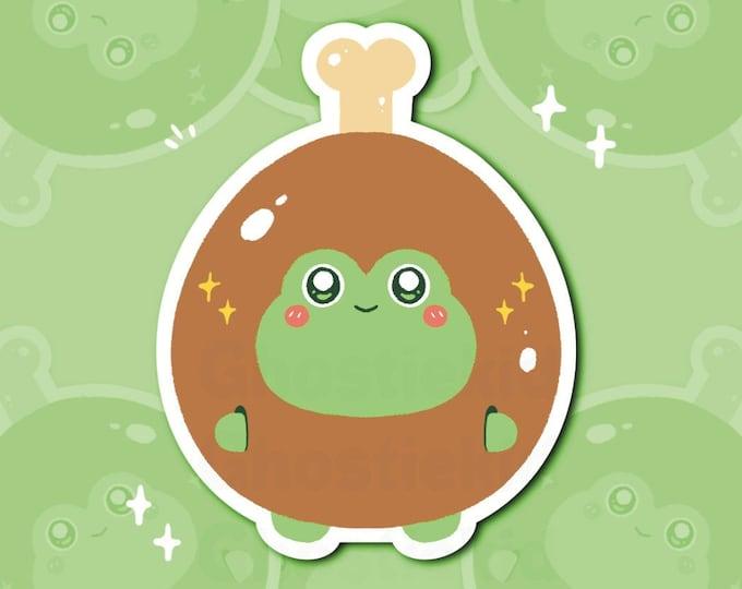 Chicken Wing Sticker Vinyl Frog Foods