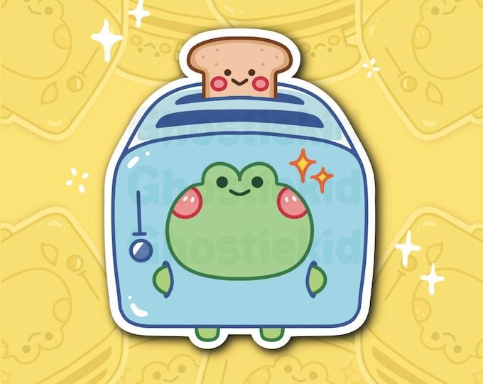 Frog Toaster Sticker Vinyl