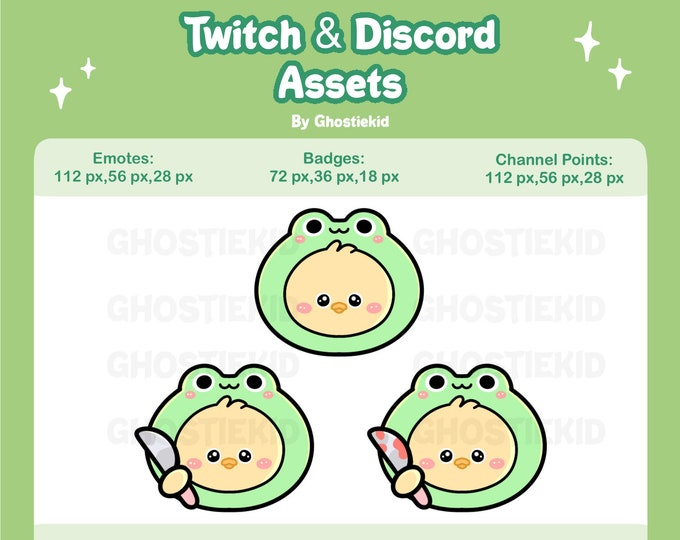 Duck Knife Emote Badge Points for Twitch Discord Streaming