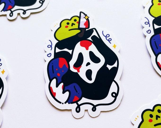 Scream Vinyl Sticker Ghost Face Spooky Water Resistant