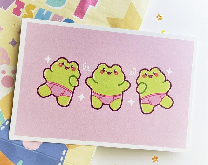 Dancing Frogs Holo 6x4 Mini Print