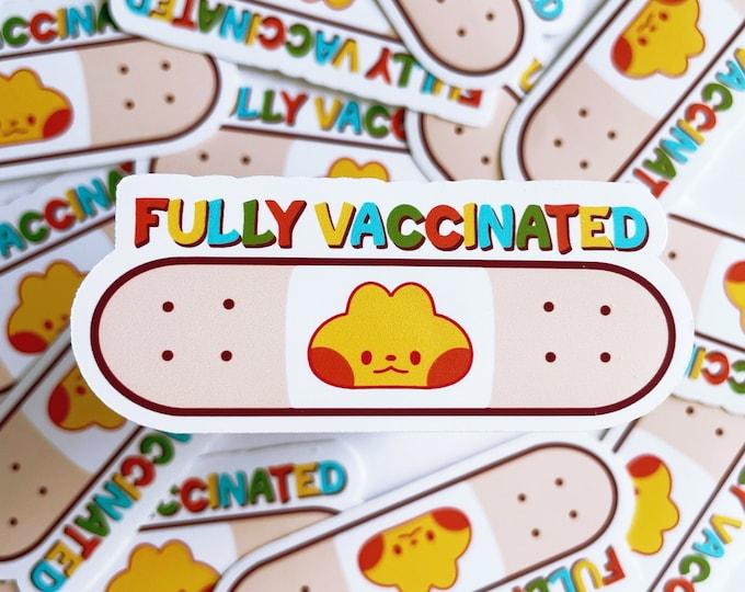 Fully Vaccinated Vinyl Sticker Covid 19 Pro Vaccination