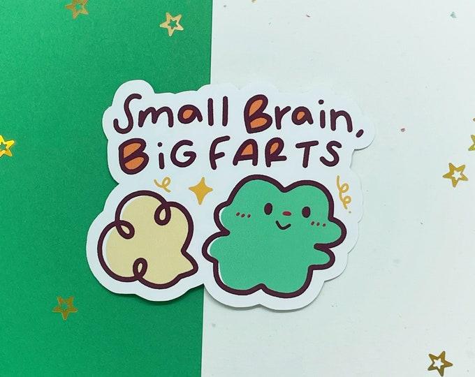 Farting Frog Vinyl Sticker