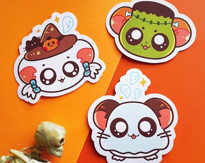 Hamtaro Stickers Vinyl Halloween Spooky