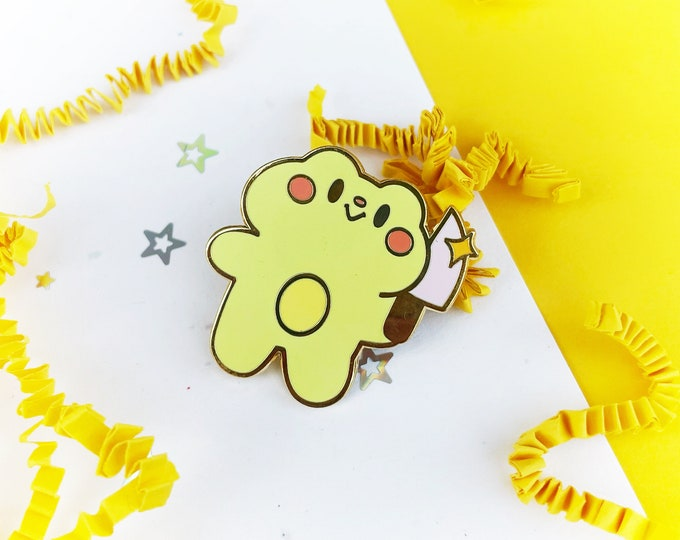 Frog with Knife Enamel Pin