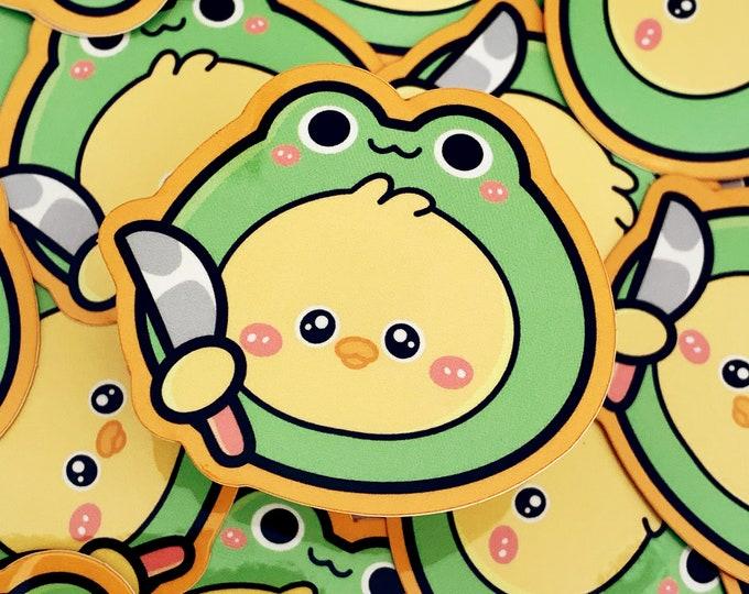 Knife Duck Sticker Glossy Frogs
