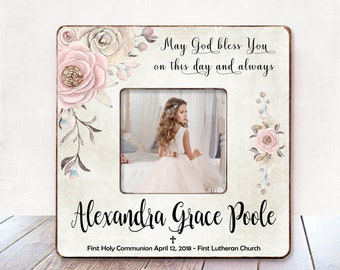 First Holy Communion Gift for Goddaughter First Communion Gift First Communion Frame First Holy Communion Picture Frame First Communion Gift
