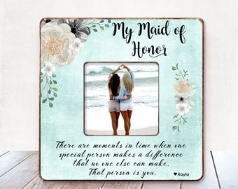 Maid Of Honor Frame Etsy