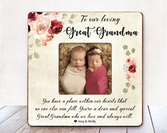 Great Grandma Gift For CHRISTMAS Frame Personalized Mothers Day Birthday