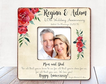 anniversary gift for parents etsy