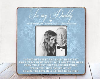 Father of The Bride Gift Wedding Gift for Dad Father Wedding Thank You Gift Wedding gift for father  I Held Her First I Loved Her First