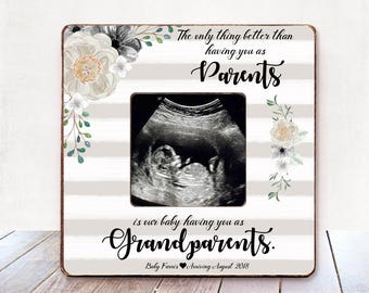 Pregnancy Reveal to grandparents pregnancy announcement grandparents pregnancy announcement grandparents picture frame you are going to be
