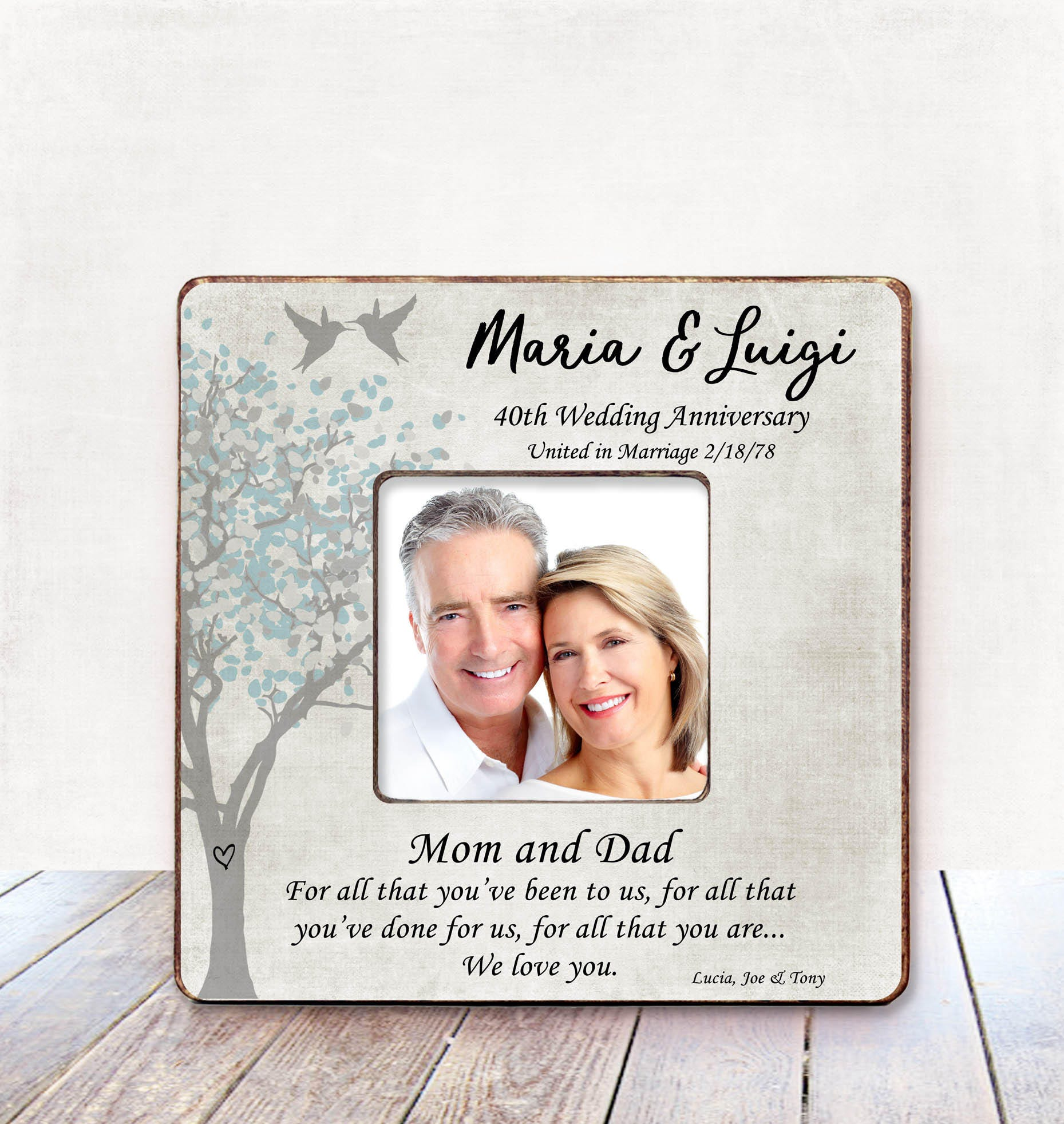 Parents Anniversary Gift Parents 40th Wedding Anniversary Gift Etsy