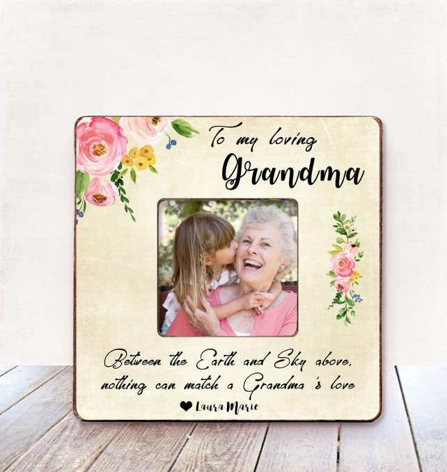 Grandma Gift Personalized Picture Frame Grandma Birthday Gift | Etsy