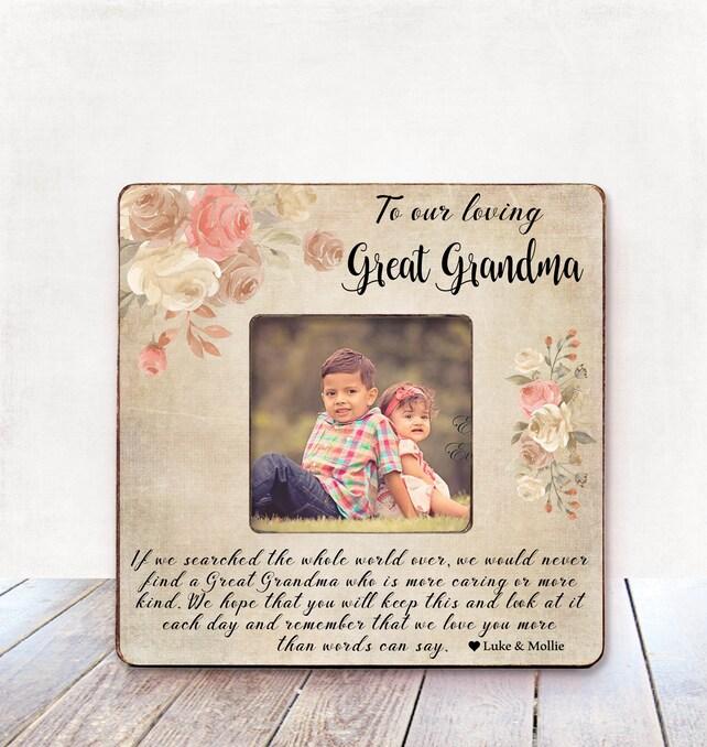 Great Grandma BIRTHDAY Gift Great Grandma Photo Frame Great | Etsy