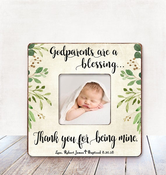 Godparents Gift Godfather Gift Godmother Gift Baptism Gift For Etsy