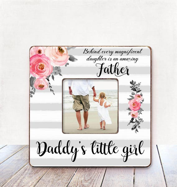 Daddy\'s Little girl picture frame Gift for Dad Father | Etsy