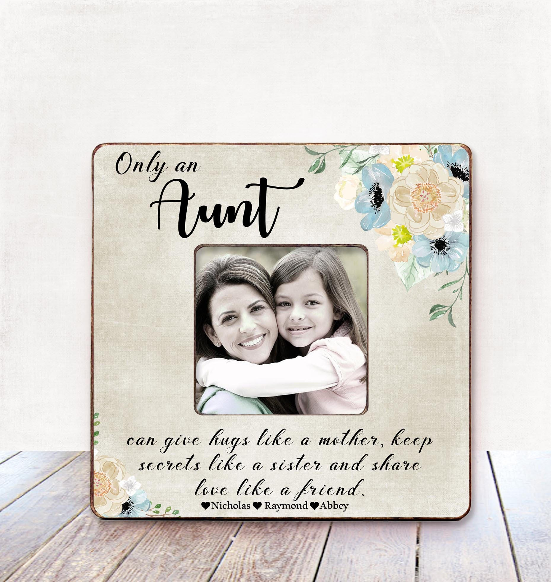 Aunt Christmas Gift Auntie BIRTHDAY Personalized Picture Frame From Niece Nephew