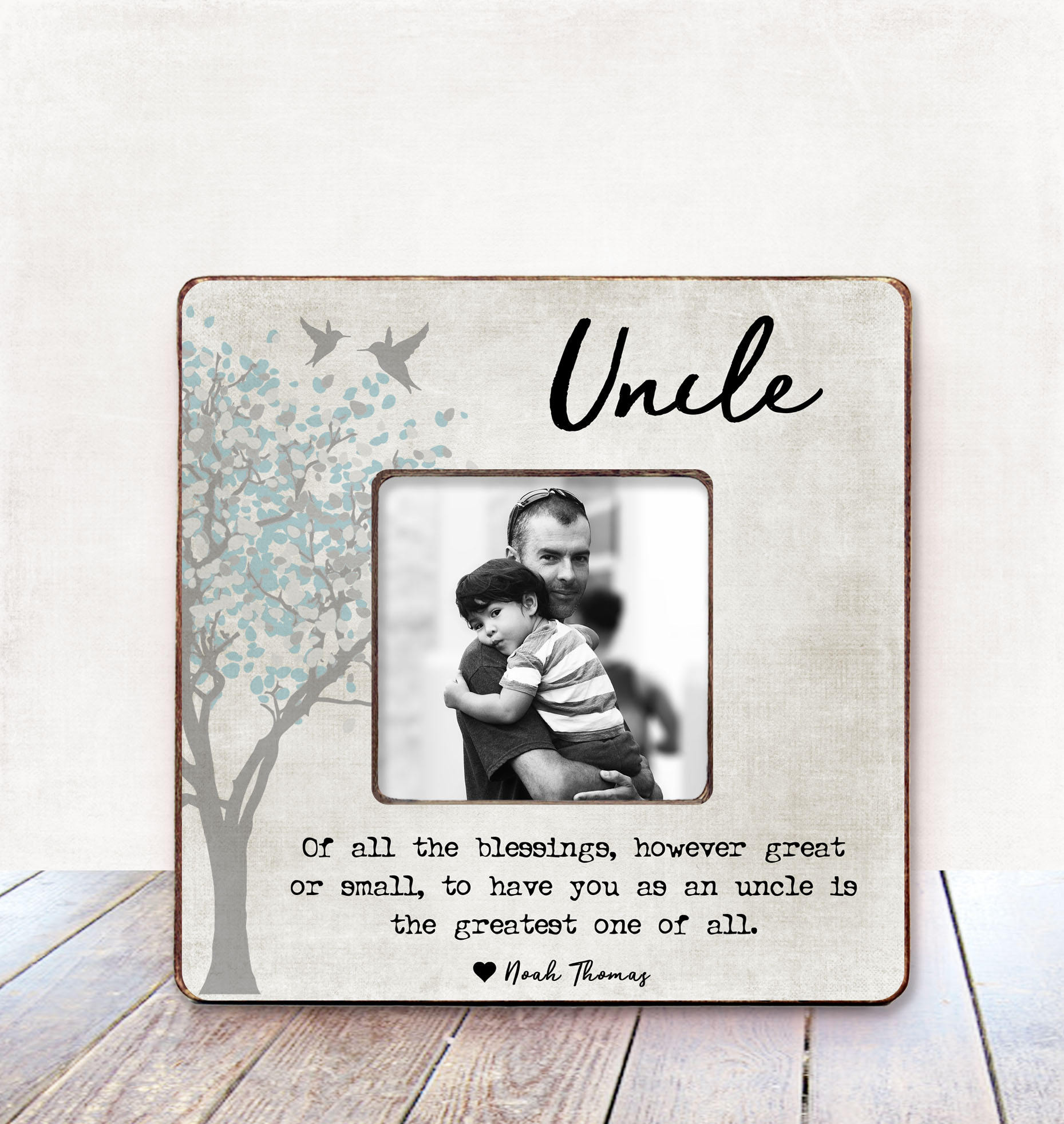Uncle Gift Uncle Birthday Gift Uncle Picture Frame Gift Uncle | Etsy