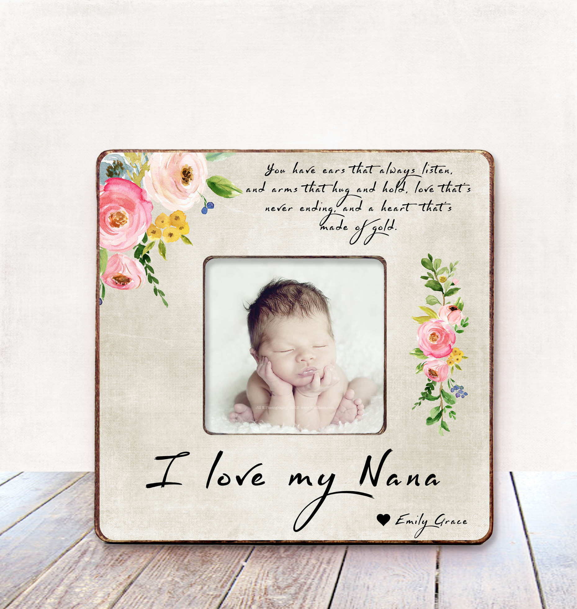 Grandma Gift Personalized Picture Frame Grandma Birthday Gift | Etsy