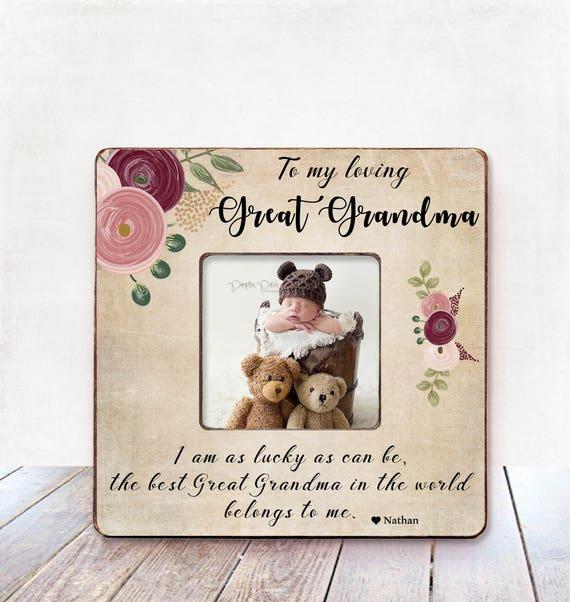 Great Grandma Christmas Gift Great Grandma Photo Frame Great | Etsy