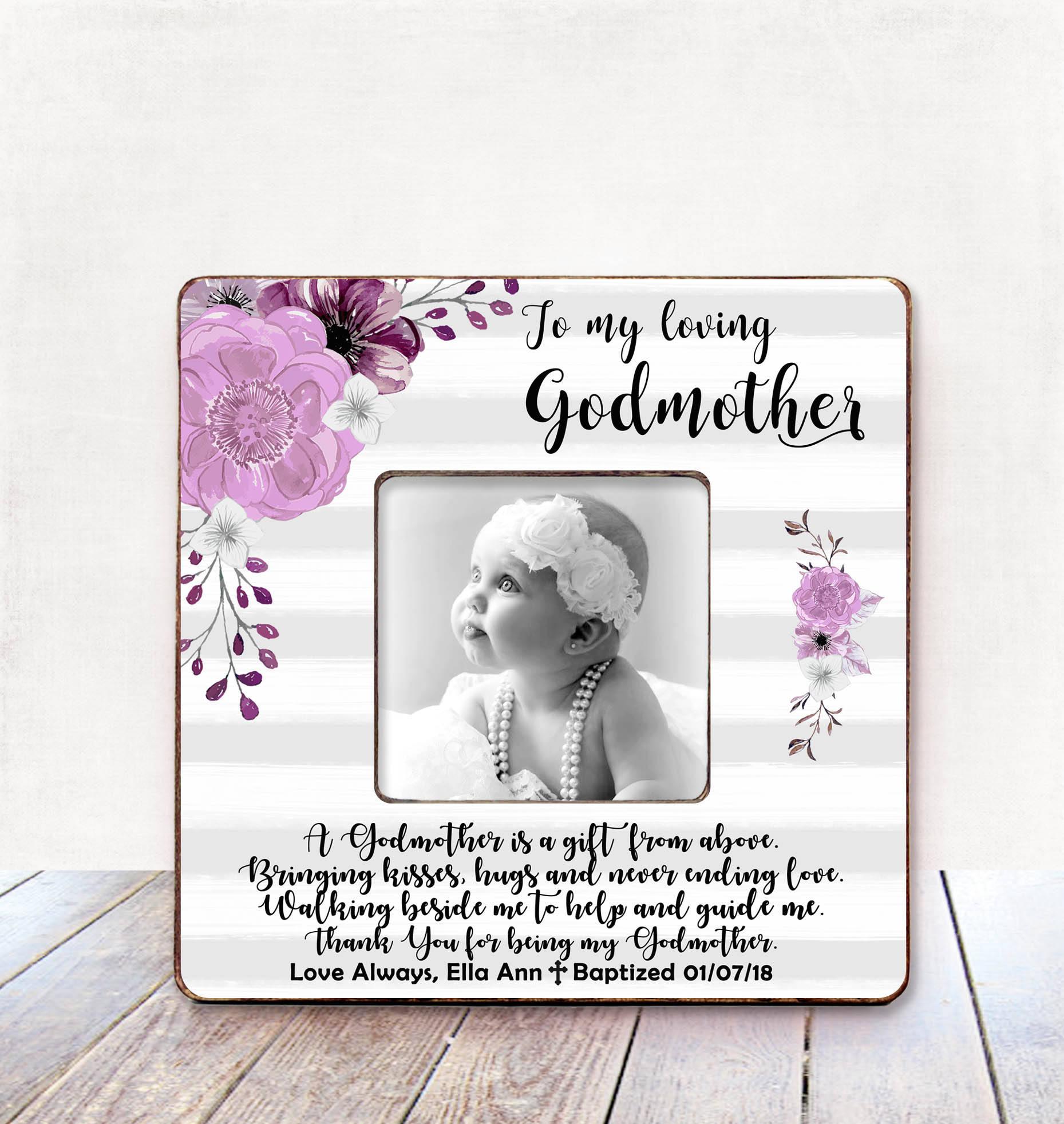 Godmother Frame Godmother Gift Godparent Gift Baptism Gift Godmother ...