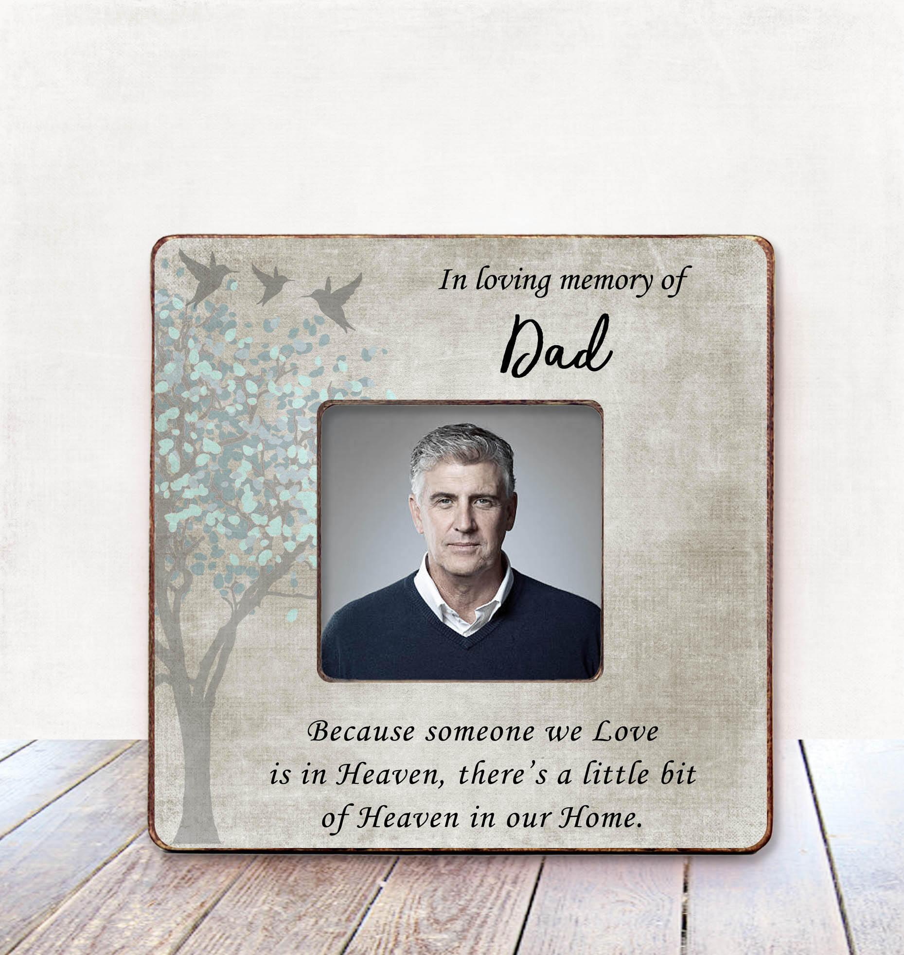 Father Memorial frame Dad Sympathy Gift Condolences Gift Memorial ...