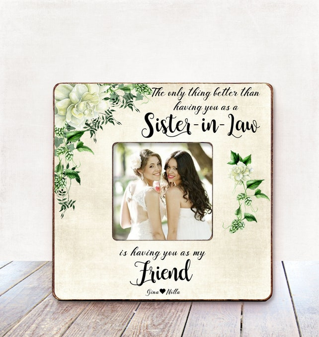Sister In Law Wedding Gift Bridesmaid Gift Bridesmaid Frame Sister