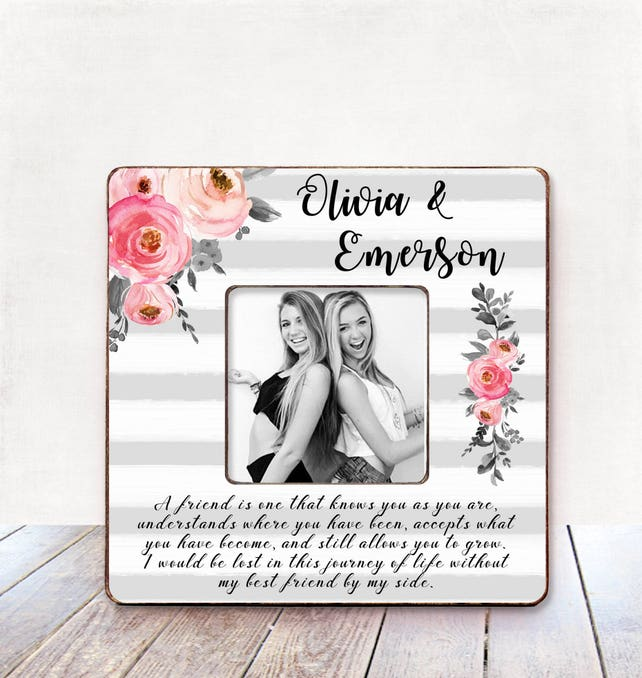 Best friend gift personalized picture frame Best friend gift   Etsy