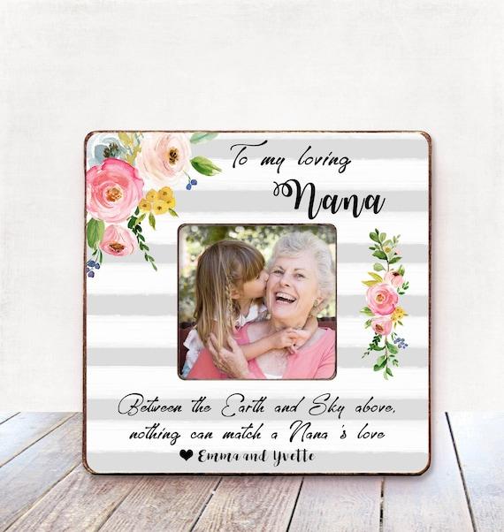 Grandma Gift Personalized Picture Frame Grandma Birthday Gift
