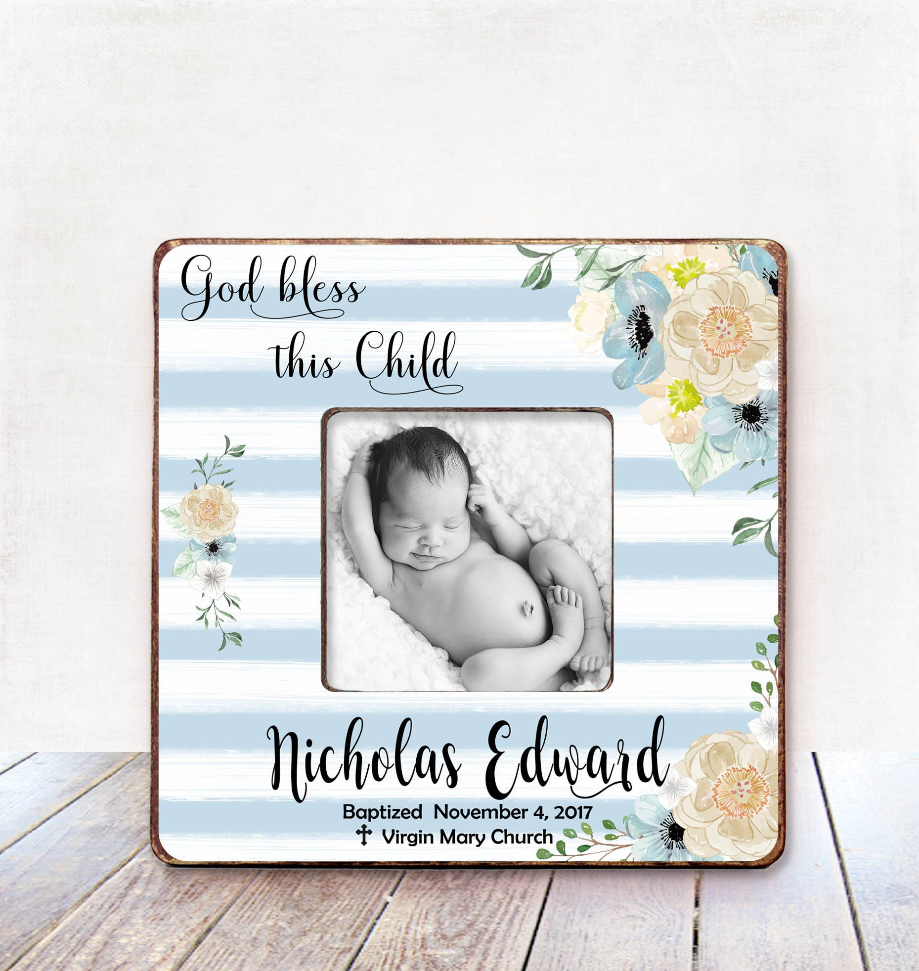 Baptism Gift BOY Christening Gift BOY Personalized Picture | Etsy