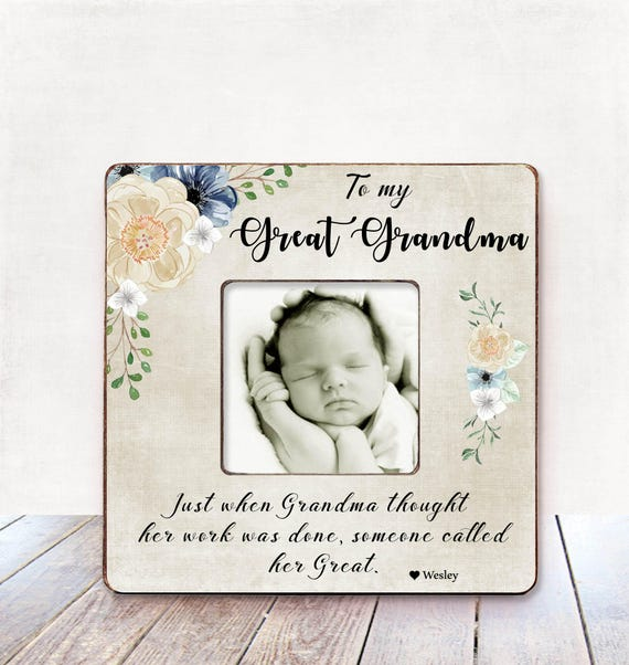 Great Grandma Birthday Gift Great Grandma Photo Frame Great Grandma ...