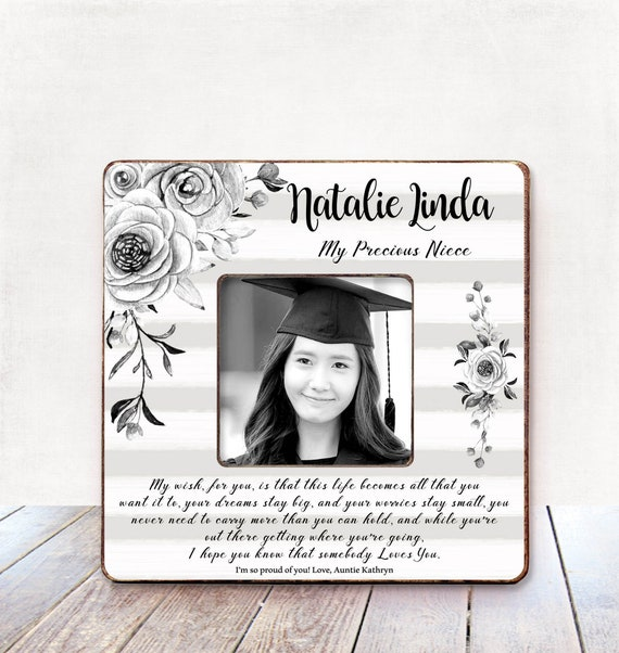 niece graduation gift from aunt niece personalized picture etsy