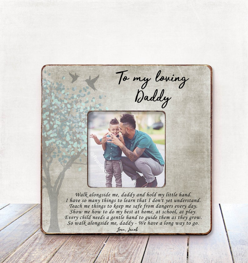 Dad Christmas Gift from Daughter Christmas Gift Dad Frame Christmas Gift for Dad Gift for Dad from Daughter Daddy/'s little girl frame dad