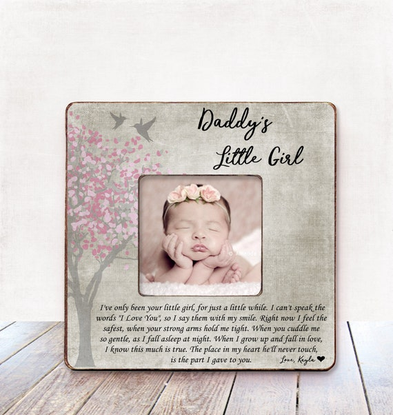 Personalised First Father/'s Day Daddy Photo Frame Gift FW94