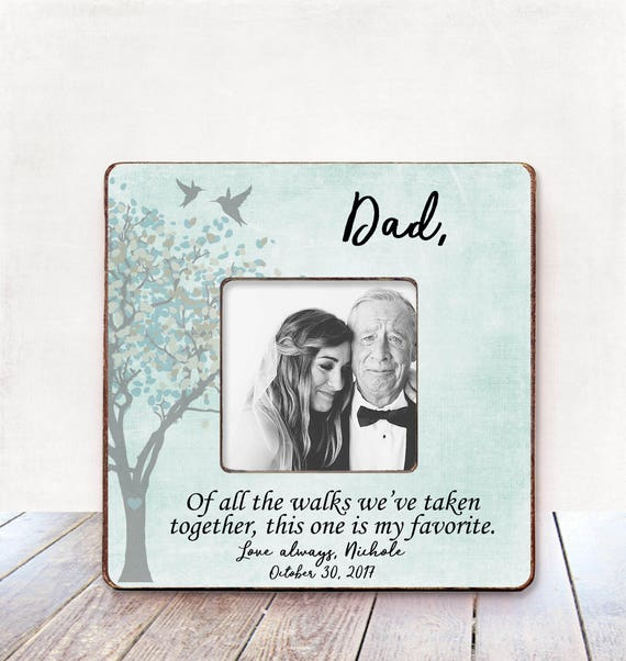 Father Of The Bride Frame Wedding Gift For Dad Father Wedding Etsy