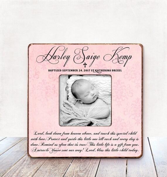 Taufe Geschenk Mädchen Taufe Mädchen Personalisiertes Bild Rahmen Taufe Geschenk Für Patenkind Geschenk Patenkind Taufe Geschenk Taufe