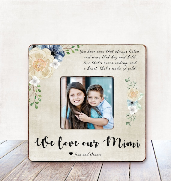 Grandma Gift Personalized Picture Frame Birthday