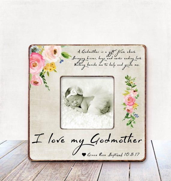 Godmother Gift for Godmother Frame Godmother Baptism Gift | Etsy