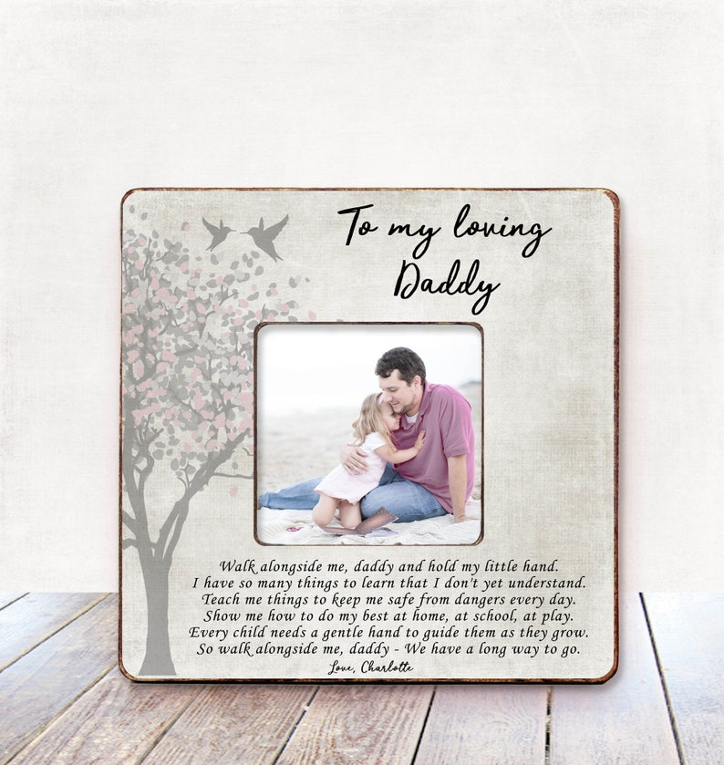 Fathers Day Dad Gift First New Personalized Picture Frame For Birthday Daddy