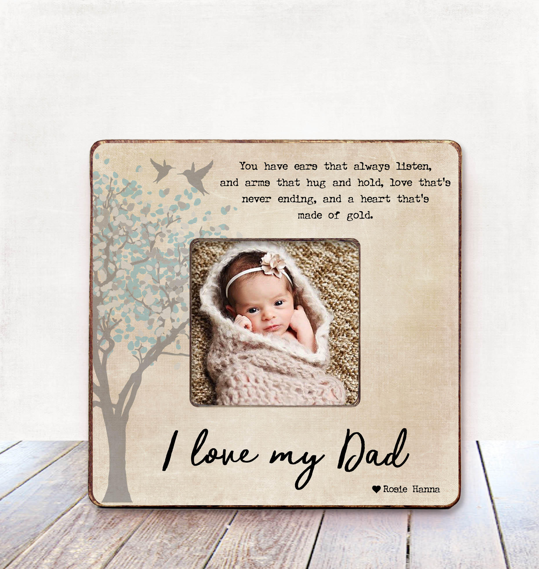 I love my Dad Picture Frame for Dad Gift from Daughter gift | Etsy