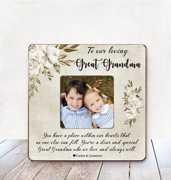 Mothers Day Great Grandma Gift Great Grandma Picture Frame Etsy