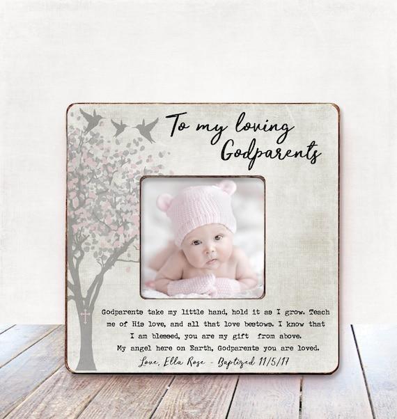 Baby Girl Godparents Gift Baptism Gift For Godparents Etsy