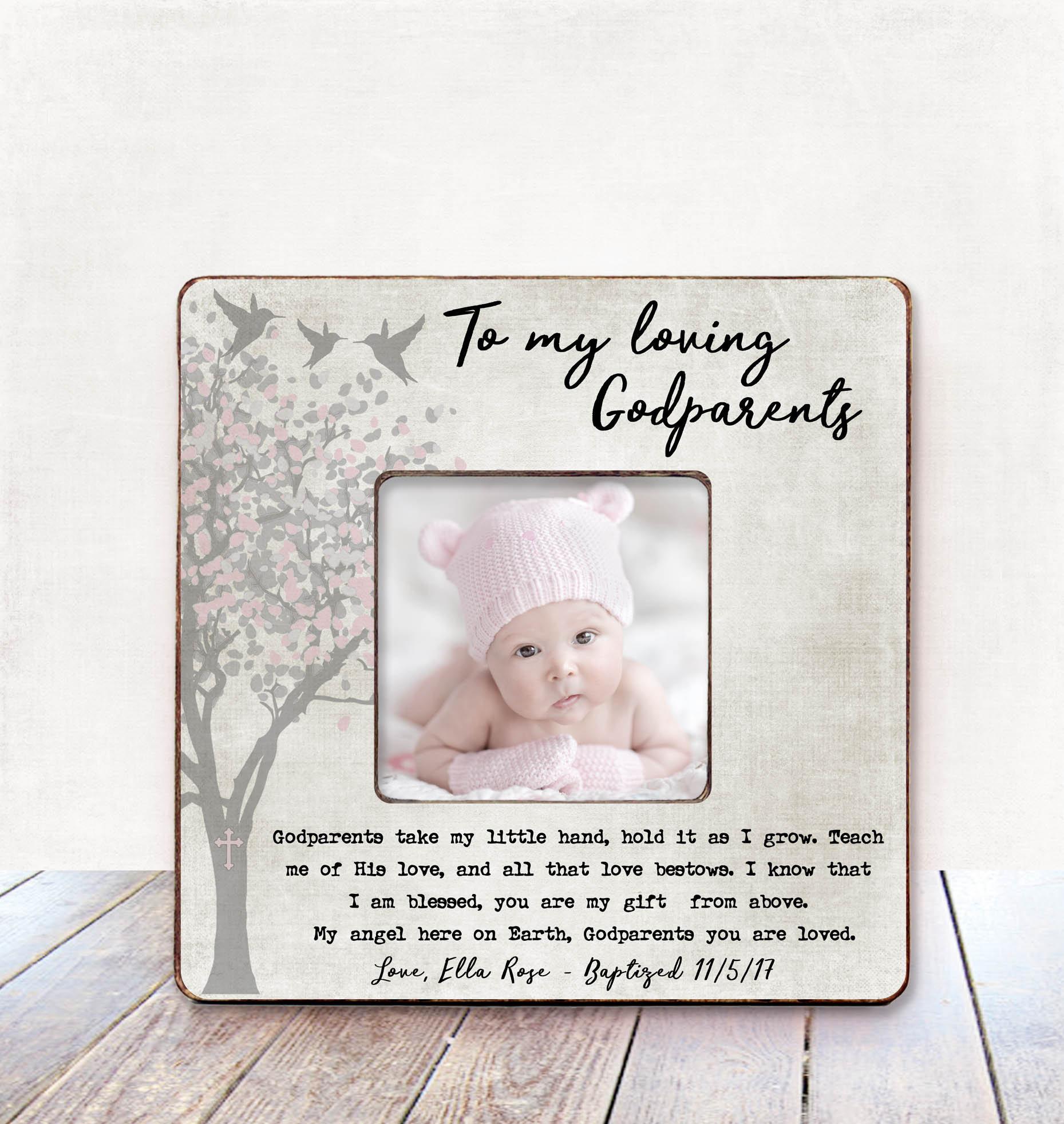 Baby Girl GODPARENTS Gift Baptism Gift for Godparents | Etsy