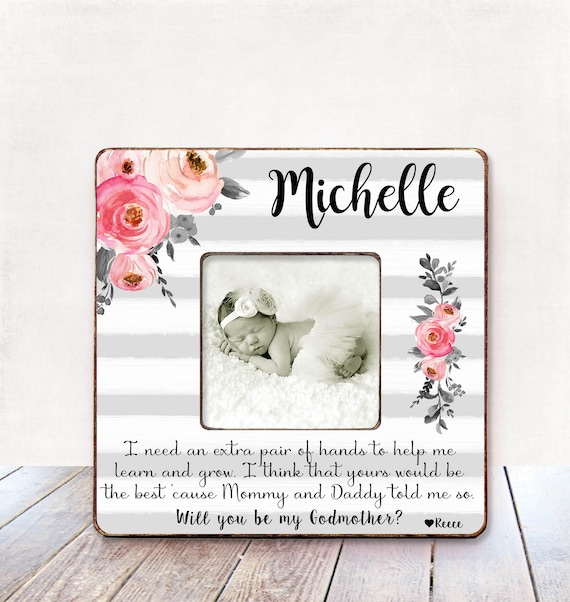 Will you be my godmother Godmother gift Personalized picture | Etsy