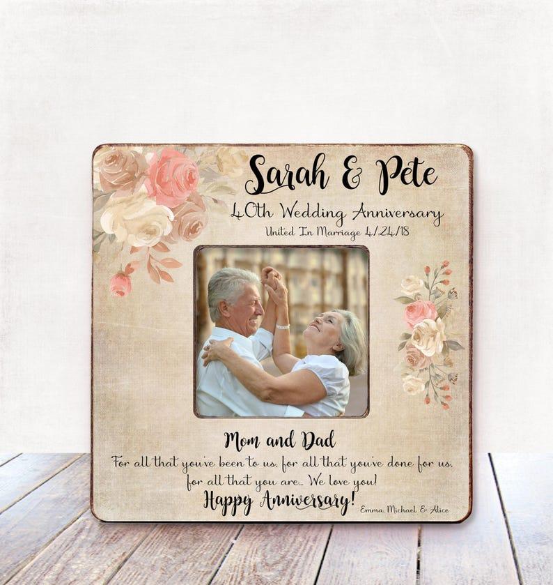 Auguri Anniversario Matrimonio Genitori : Genitori genitori regalo anniversario matrimonio th etsy