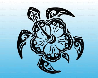 Sea Turtle svg Turtle svg files for cricut, Tribal svg |ai Files dxf Files SVG Files, Cricut Cut Files, Silhouette Cut Files