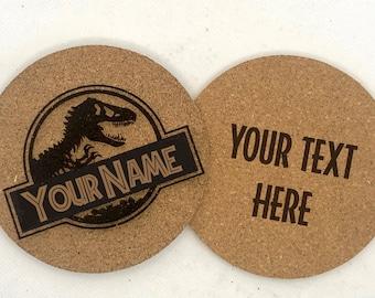 Custom Jurassic Park/World Cork Coaster Set of 6