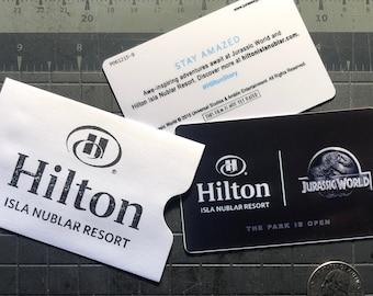 Hilton Jurassic World Isla Nublar Resort Limited Edition Replica [Set of 2]